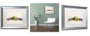 """Trademark Global Michael Tompsett 'Philadelphia PA' Matted Framed Art - 16"""" x 20"""""""