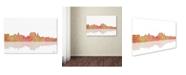 "Trademark Global Marlene Watson 'Augusta Maine Skyline III' Canvas Art - 16"" x 24"""