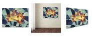 "Trademark Global Michael Tompsett 'Australia Geometric Retro Map' Canvas Art - 18"" x 24"""