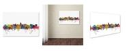 "Trademark Global Michael Tompsett 'Madison Wisconsin Skyline' Canvas Art - 16"" x 24"""