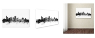 "Trademark Global Michael Tompsett 'Jackson MS Skyline B&W' Canvas Art - 30"" x 47"""