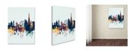 "Trademark Global Michael Tompsett 'London Skyline Tall Blue' Canvas Art - 35"" x 47"""