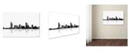 "Trademark Global Marlene Watson 'Milwaukee Wisconsin Skyline BG-1' Canvas Art - 30"" x 47"""