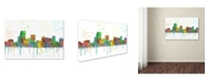 "Trademark Global Marlene Watson 'Parsippany New Jersey Skyline Mclr-1' Canvas Art - 30"" x 47"""
