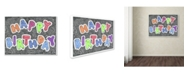 "Trademark Global Viz Art Ink 'Birthday Balloons' Canvas Art - 35"" x 47"""