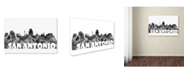 "Trademark Global Marlene Watson 'San Antonio Texas Skyline BG-2' Canvas Art - 22"" x 32"""