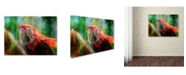 "Trademark Global Lois Bryan 'Green Winged Macaw' Canvas Art - 47"" x 35"""