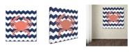 "Trademark Global Stephanie Marrott 'Crab Chevron' Canvas Art - 35"" x 35"""