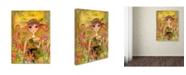 "Trademark Global Wyanne 'Big Eyed Girl My Little Cabbage' Canvas Art - 35"" x 47"""