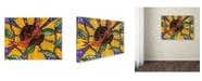 """Trademark Global Wyanne 'Birdies And Sunflower' Canvas Art - 35"""" x 47"""""""