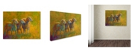 "Trademark Global Marion Rose 'Sheep Trio' Canvas Art - 24"" x 32"""