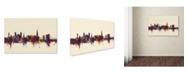 "Trademark Global Michael Tompsett 'Exeter England Skyline IV' Canvas Art - 22"" x 32"""