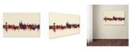 "Trademark Global Michael Tompsett 'Iowa City Iowa Skyline IV' Canvas Art - 22"" x 32"""