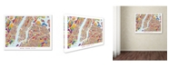 "Trademark Global Michael Tompsett 'New York City Street Map V' Canvas Art - 35"" x 47"""