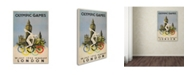 """Trademark Global Vintage Apple Collection '1948 London Olympic Games' Canvas Art - 22"""" x 32"""""""