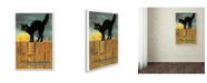 """Trademark Global Vintage Apple Collection 'Fence Cat' Canvas Art - 22"""" x 32"""""""