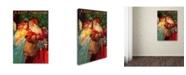"Trademark Global Vintage Apple Collection 'Happy Christmas' Canvas Art - 30"" x 47"""