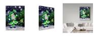 "Trademark Global Jake Hose 'Jolly Hawk Santa' Canvas Art - 24"" x 32"""
