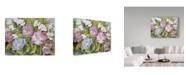 "Trademark Global Joanne Porter 'Purple Tulips White Austronesia' Canvas Art - 35"" x 47"""