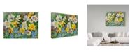 "Trademark Global Joanne Porter 'Daffodils And Grape Hyacinths' Canvas Art - 35"" x 47"""