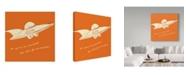 "Trademark Global John W. Golden 'Lunastrella Flying Saucer' Canvas Art - 24"" x 24"""