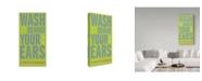 "Trademark Global John W. Golden 'Wash Behind Your Ears' Canvas Art - 24"" x 47"""