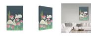 "Trademark Global Karen Fields 'Lily Pad Swan' Canvas Art - 30"" x 47"""