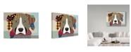 "Trademark Global Lanre Adefioye 'Bernese Mountain Dog' Canvas Art - 35"" x 47"""