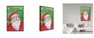 "Trademark Global Melinda Hipsher 'Merry Christmas Santa In Red' Canvas Art - 30"" x 47"""