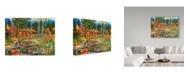 "Trademark Global William Vanderdasson 'Leftovers For Supper' Canvas Art - 35"" x 47"""