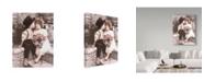 """Trademark Global Sharon Forbes 'A Little Kiss' Canvas Art - 35"""" x 47"""""""