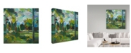 "Trademark Global Hooshang Khorasani 'Valley Of Green' Canvas Art - 35"" x 35"""