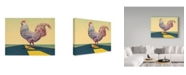 "Trademark Global James W. Johnson 'Crossing Chicken' Canvas Art - 32"" x 24"""