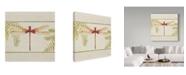 "Trademark Global Jean Plout 'Dragonfly Wonder 2' Canvas Art - 35"" x 35"""