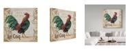 "Trademark Global Jean Plout 'Le Coq 6' Canvas Art - 35"" x 35"""