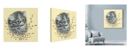"Trademark Global Peggy Harris 'Precious Kitty' Canvas Art - 35"" x 35"""