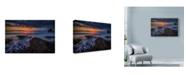 "Trademark Global Lincoln Harrison 'Orange Light In Clouds' Canvas Art - 47"" x 30"""