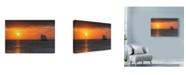 """Trademark Global Robert Goldwitz 'Clipper Sunset' Canvas Art - 24"""" x 16"""""""