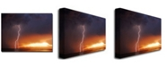 "Trademark Global Kurt Shaffer 'Lightning Sunset IV' Canvas Art - 24"" x 18"""