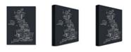 """Trademark Global Michael Tompsett 'UK Font Cities' Canvas Art - 24"""" x 18"""""""
