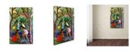 "Trademark Global Manor Shadian 'Four Girls In Maui' Canvas Art - 24"" x 16"""