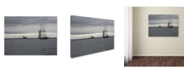 "Trademark Global Monica Fleet 'Breaking Boundary' Canvas Art - 47"" x 35"""