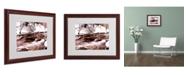 """Trademark Global Monica Fleet 'Cold Warmth' Matted Framed Art - 20"""" x 16"""""""