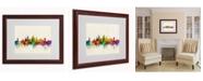 """Trademark Global Michael Tompsett 'Oxford England Skyline' Matted Framed Art - 20"""" x 16"""""""
