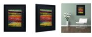 "Trademark Global Michelle Calkins 'Brocade and Stripes 1' Matted Framed Art - 20"" x 16"""