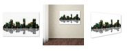 "Trademark Global Marlene Watson 'Denver Colorado Skyline' Canvas Art - 22"" x 32"""