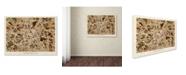 """Trademark Global Michael Tompsett 'Manchester England Street Map II' Canvas Art - 35"""" x 47"""""""