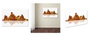 "Trademark Global Marlene Watson 'Dallas Texas Skyline II' Canvas Art - 30"" x 47"""
