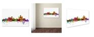 "Trademark Global Michael Tompsett 'Detroit Michigan Skyline' Canvas Art - 22"" x 32"""