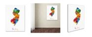 """Trademark Global Michael Tompsett 'New Jersey Map' Canvas Art - 35"""" x 47"""""""